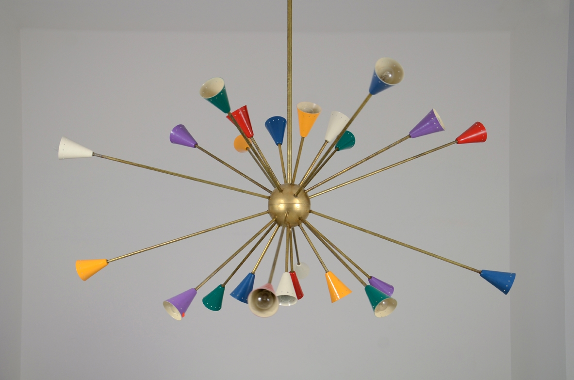 chandelier lighting vintage lamps sputnik