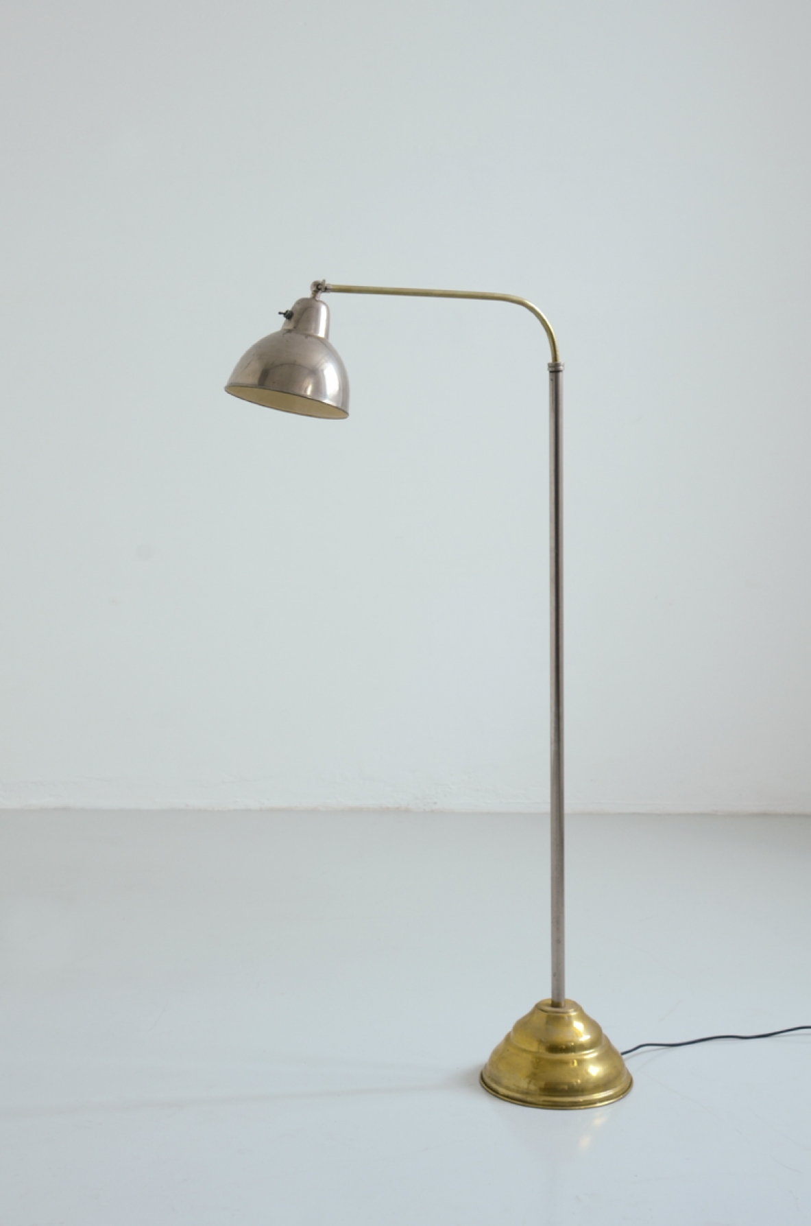 Floor lamp in brass and metal chromed, France 1930's.
