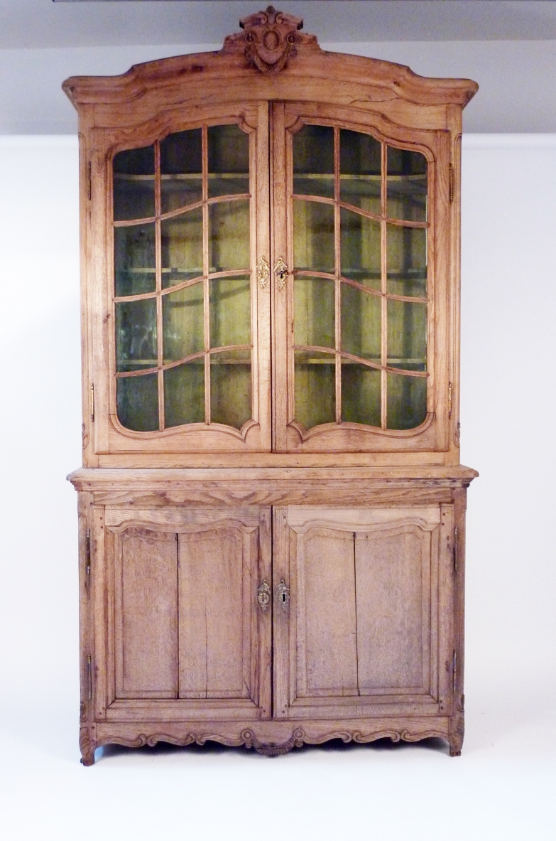 Highboard in light oak wood, France 1920's.