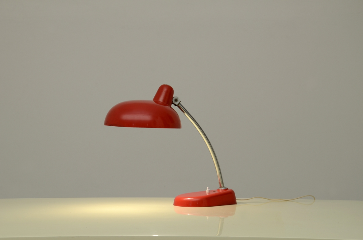 Adjustable table lamp designed for the Italian television offices in the 1960's.