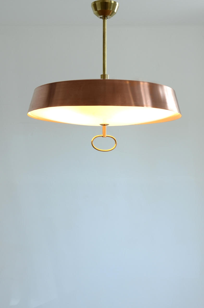 1950's Vintage pendant lamp in copper