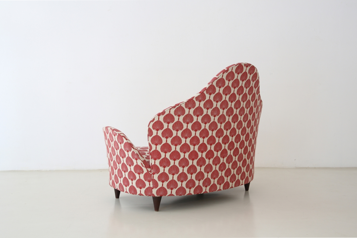 Cesare Lacca, unique 1950's sofa/armchair produced by ISA.