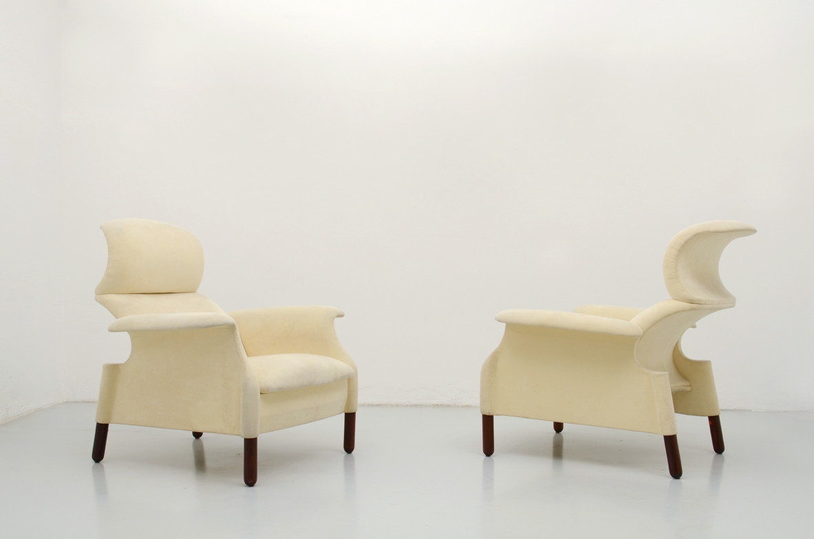 1959's Pair of Sanluca armchairs by Gavina