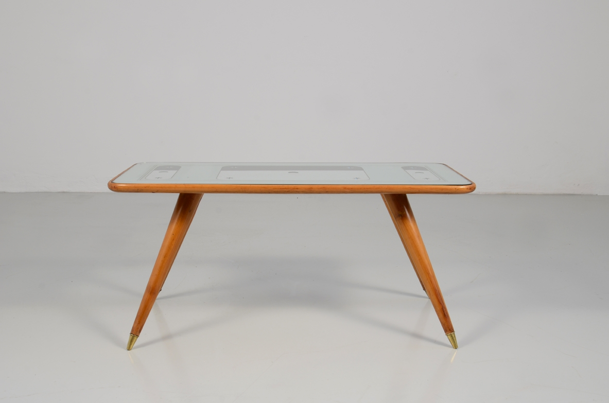 1950's Gio Ponti coffee table prod. by Cristal Art