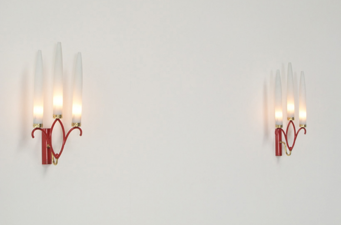 1950's wall lamps by Angelo Lelli