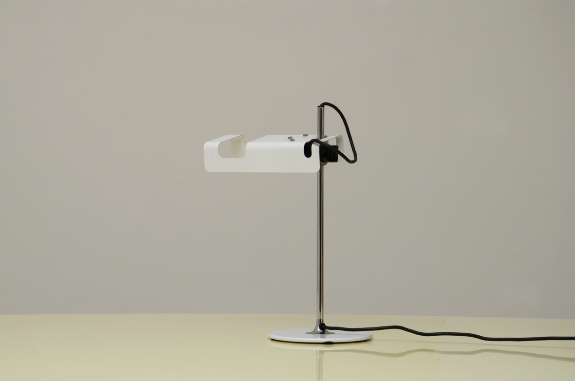 Joe Colombo, Spider desk lamp for O'LUCE, white. 1960's