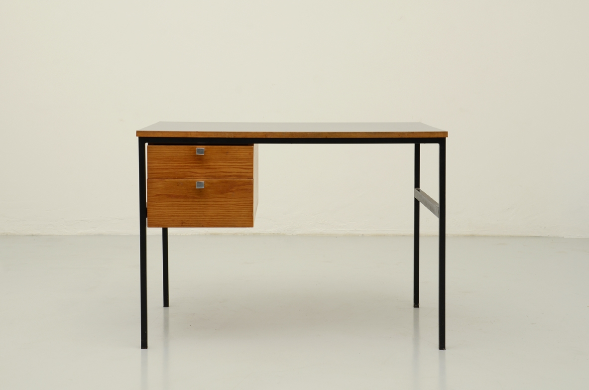 Pierre Paulin, writing table with metal structure, France 1962.