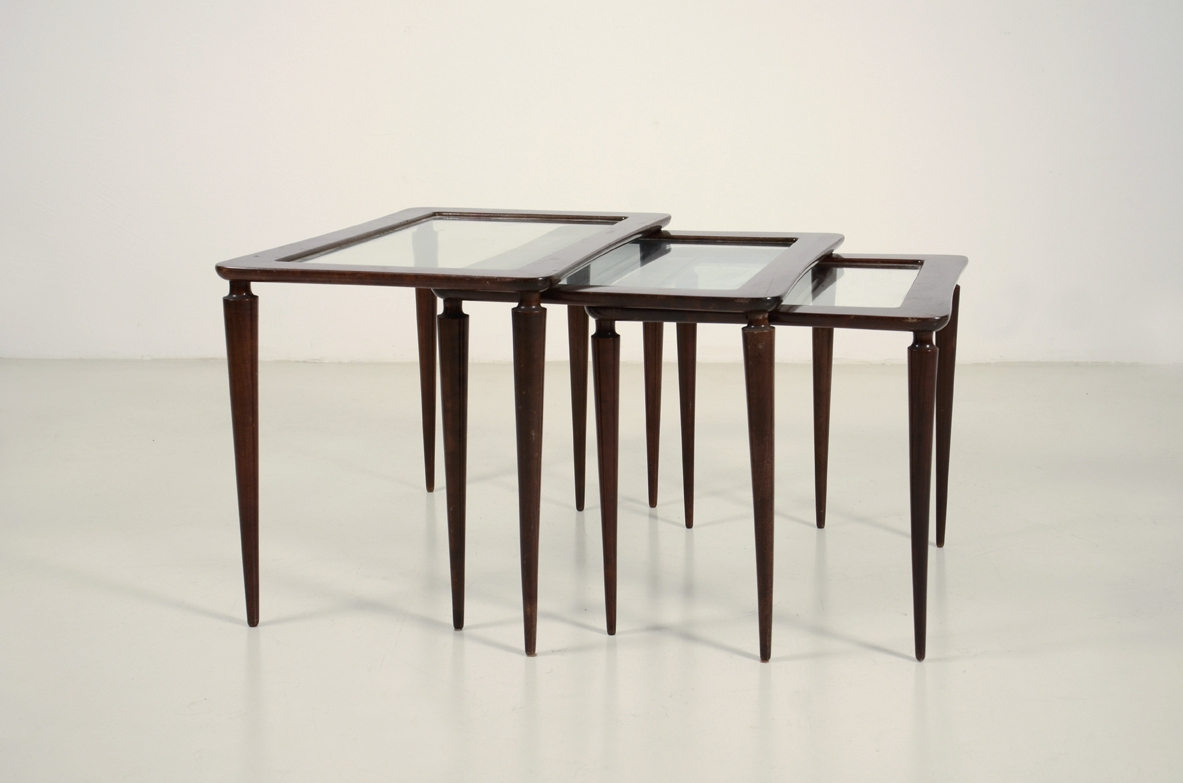 1950's Set of coffee tables Gallery Milan