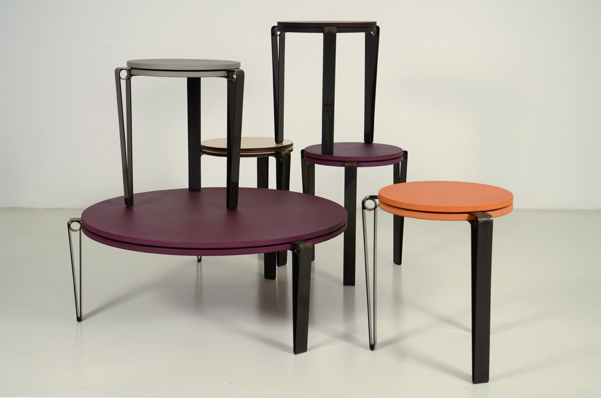 Tables in mdf furniture design shop Milan