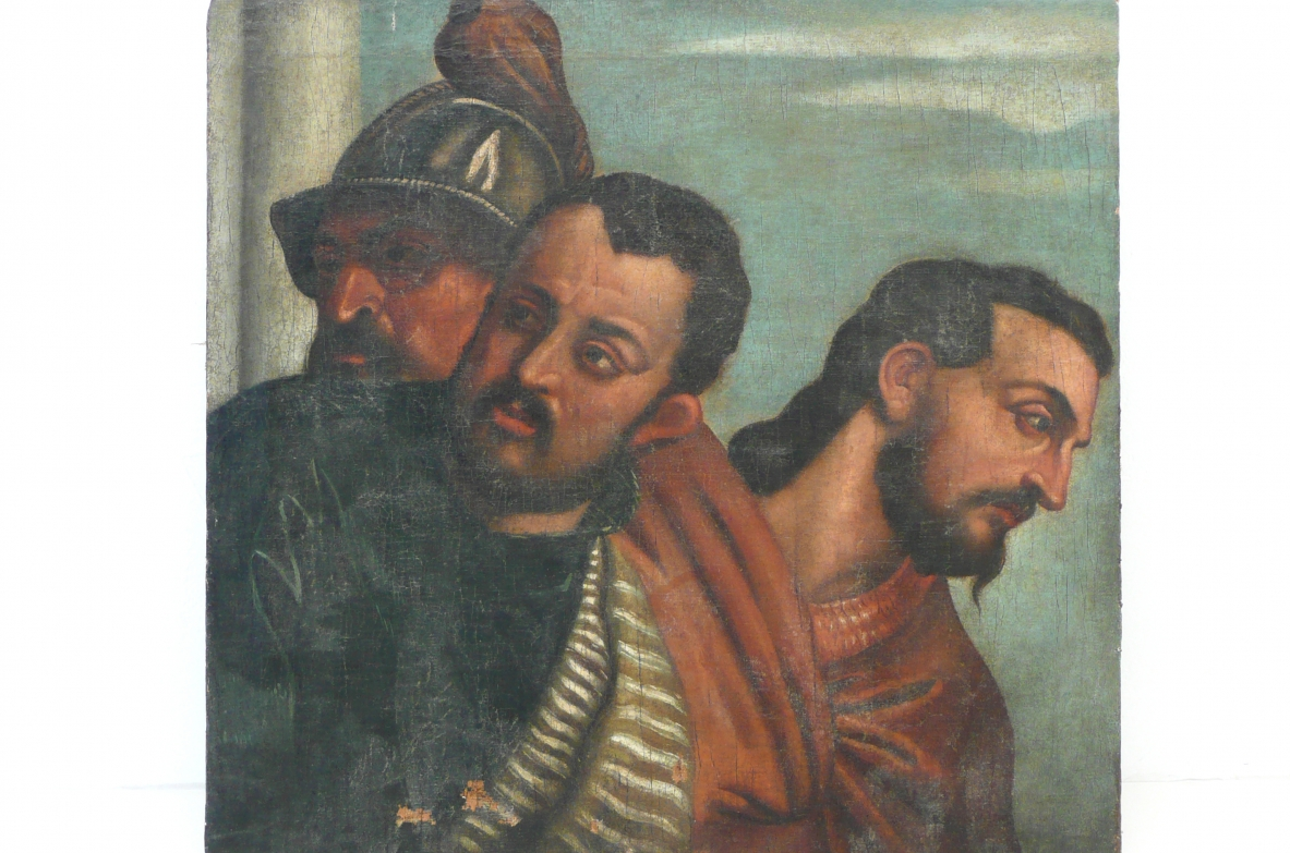 Three soldiers, oil painting, Italy XVII