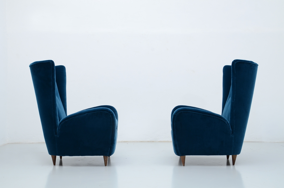 Elegant pair of 1940's armchairs.