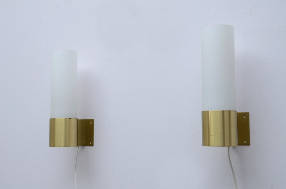 Vintage danish wall lamps by Jorgen Bo