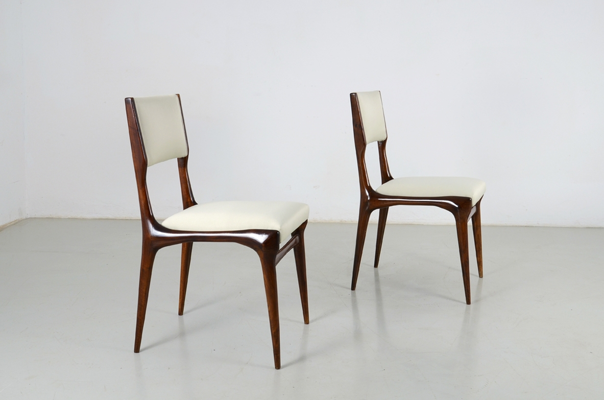 Carlo de Carli and Gio Ponti pair of chair 1955