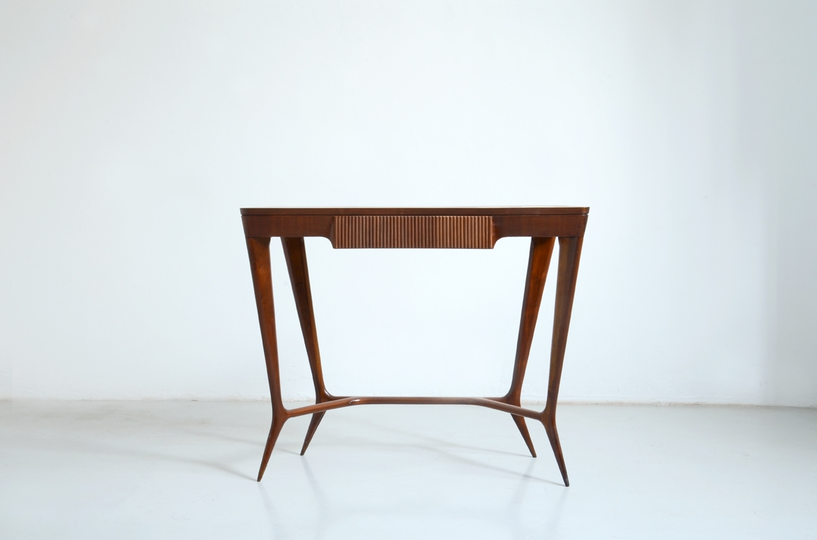 Ico Parisi, Italian 1950's console table in cherry wood