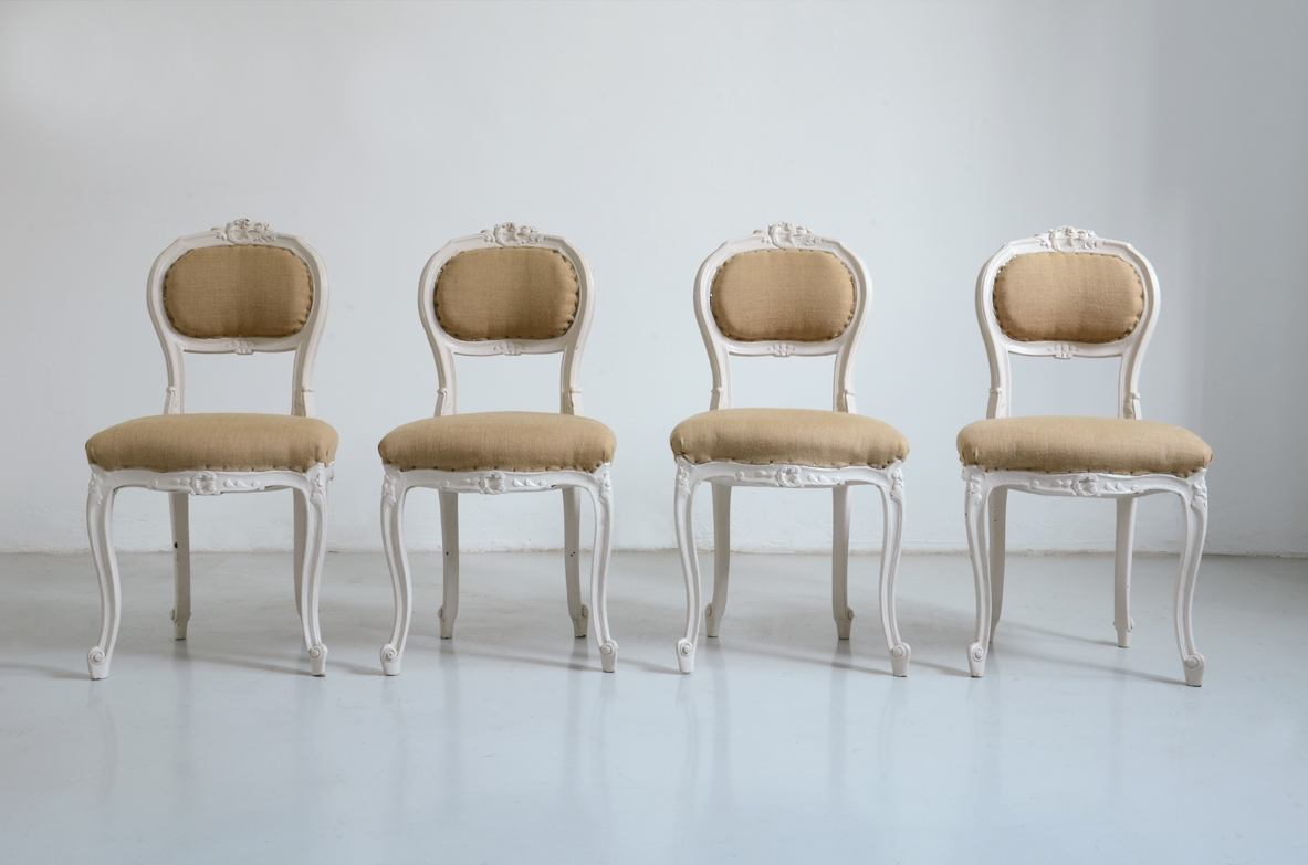 Group of four 1920's Italian chairs.