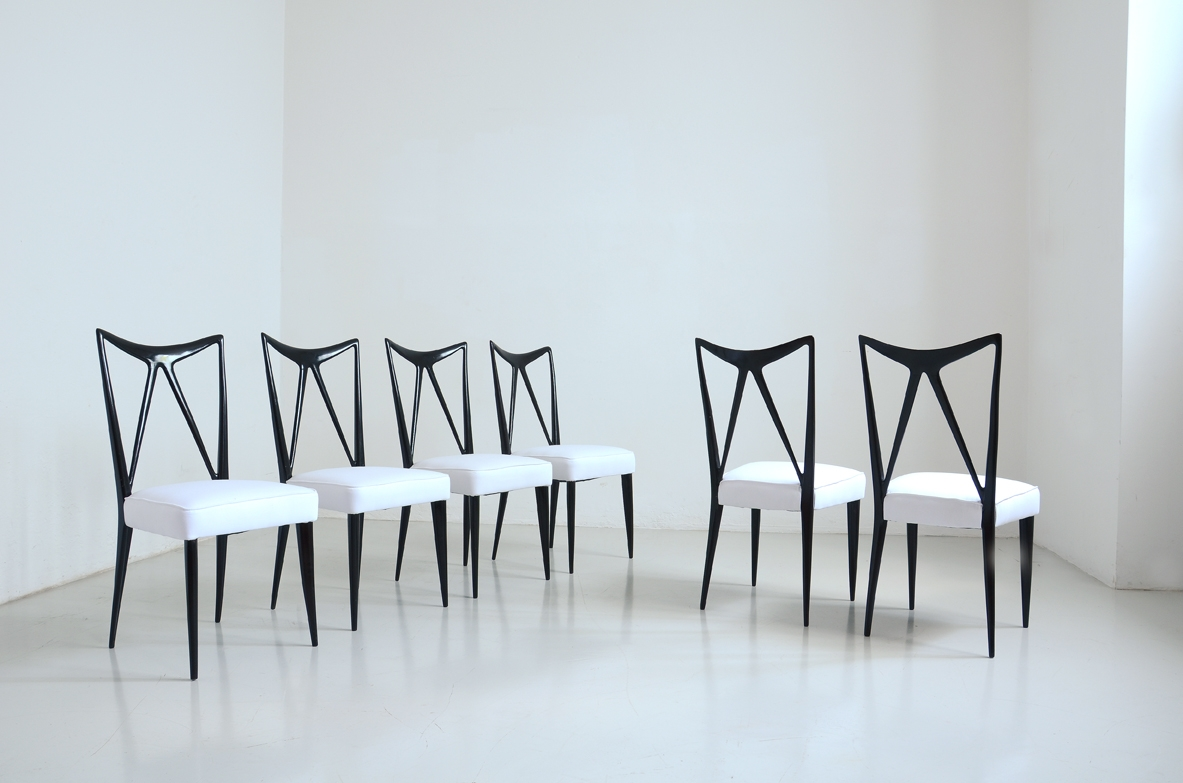 Set of Ico Parisi chairs