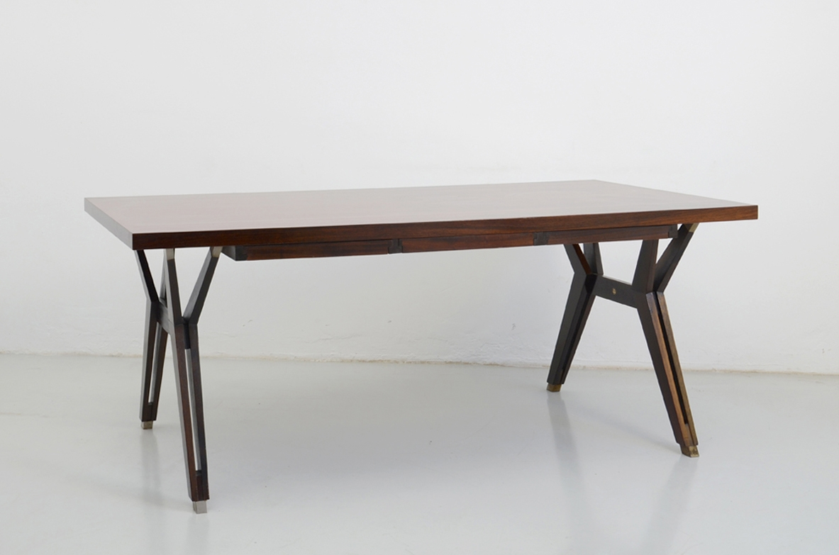 Ico Parisi, 1960's writing table in macassar wood