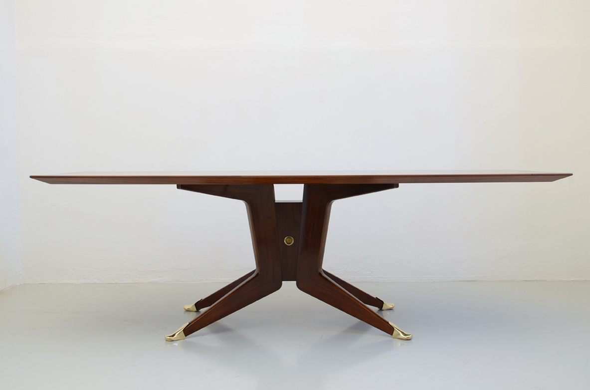 Mid Century Dining Table in macassar