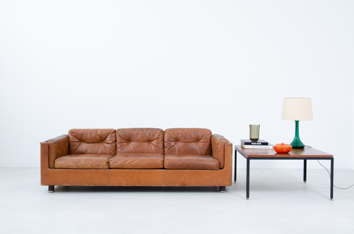 1960's Vintage sofa in leather