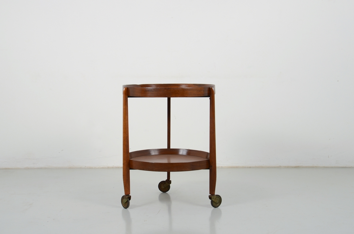 Uno Kristiansson, teak wood trolley, Sweden 1950's.