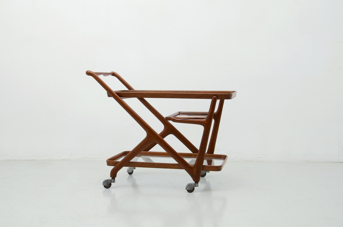 1950's Vintage trolley in wood
