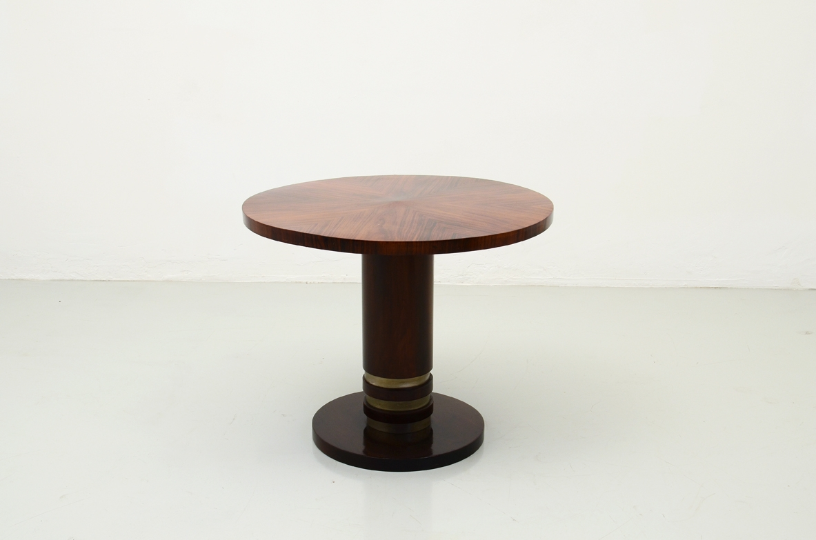 Art deco coffee table with beautiful rosewood top