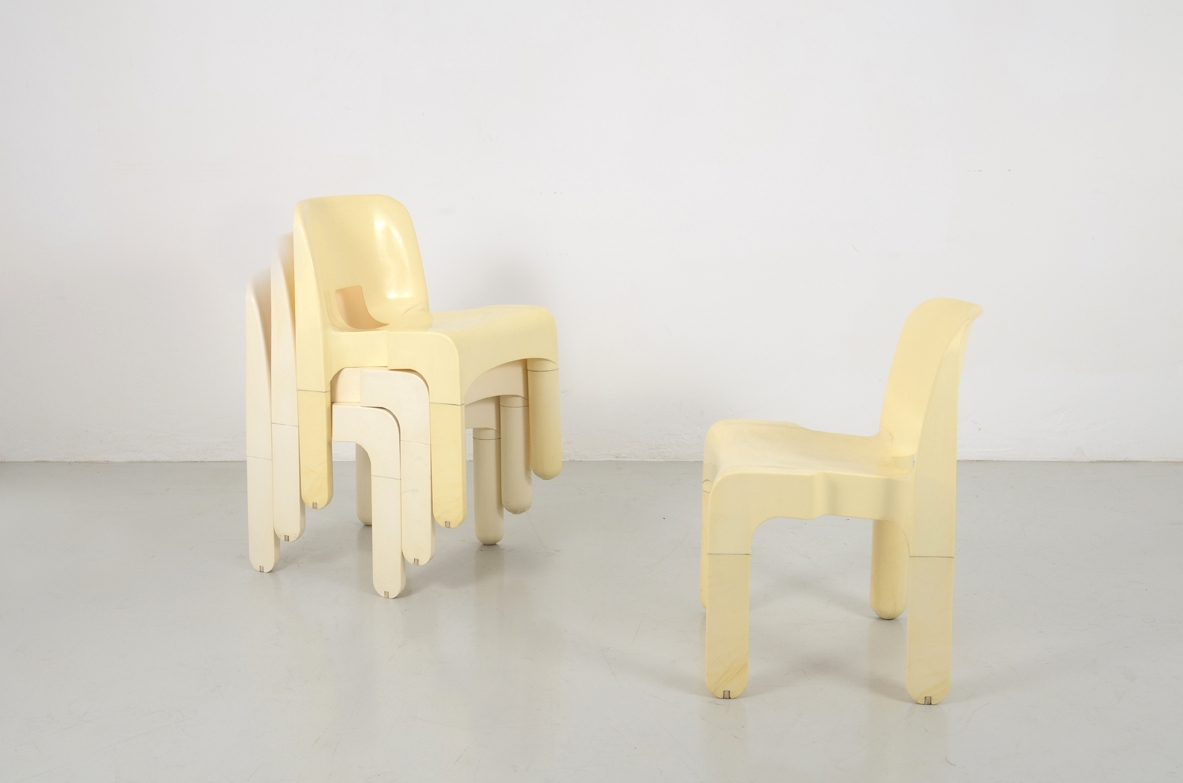 Joe Colombo, Set of 4 chairs, Kartell 60's