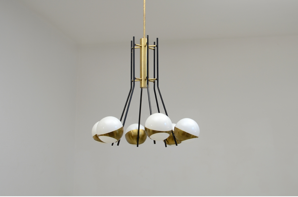1950's Stilnovo, original vintage ceiling lamp