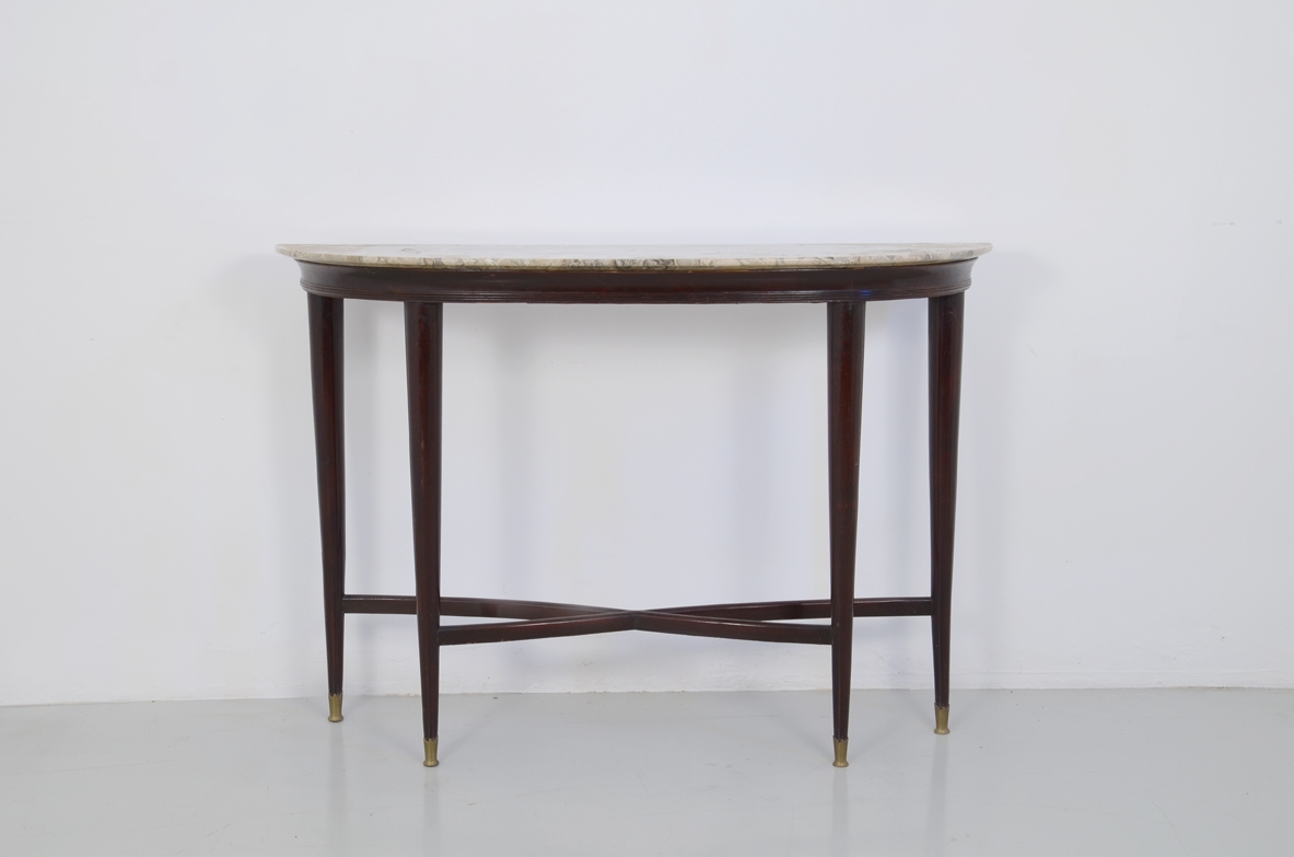 Vintage Italian console table with marble top