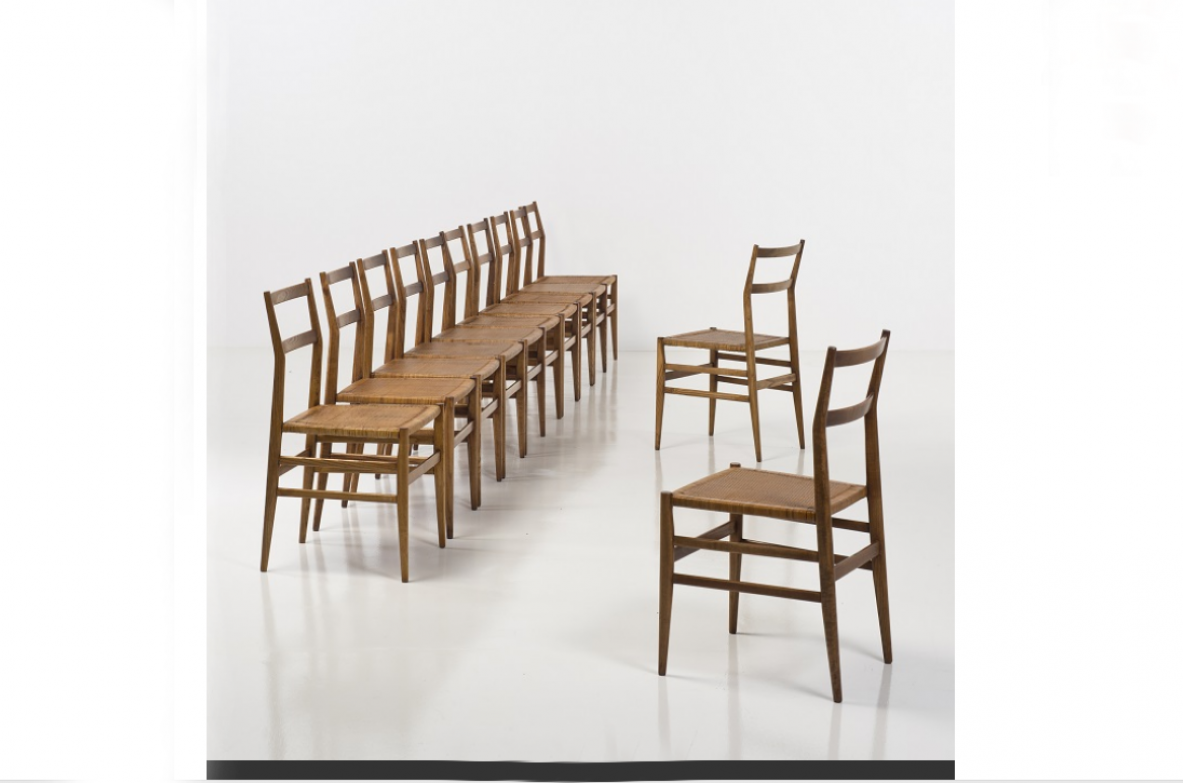 1950's Gio Ponti Eight chairs Leggera Cassina