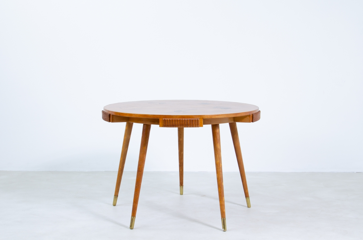 1940's original vintage card table by Osvaldo Borsani
