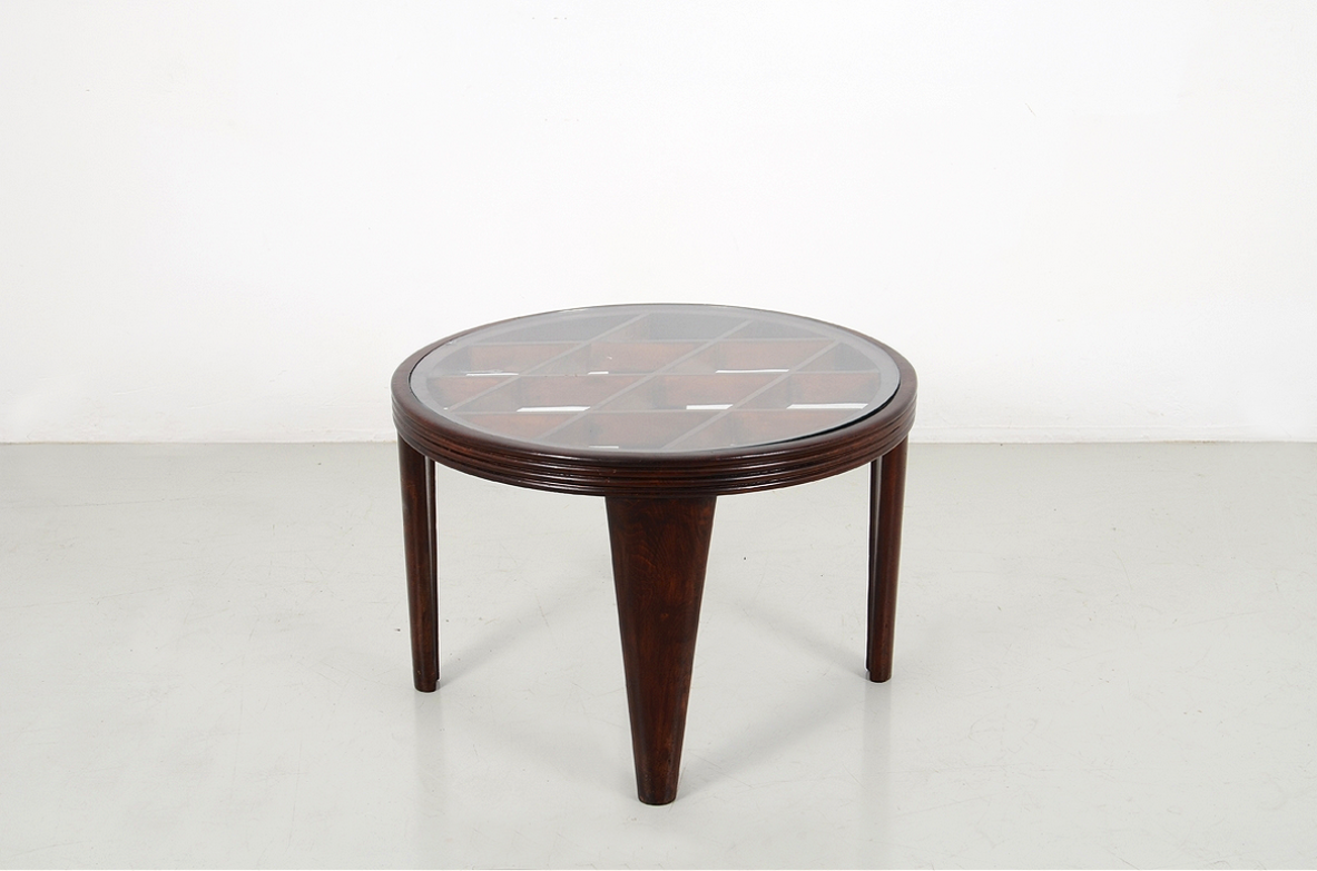 Italian 1940's coffee table in the style of Portaluppi