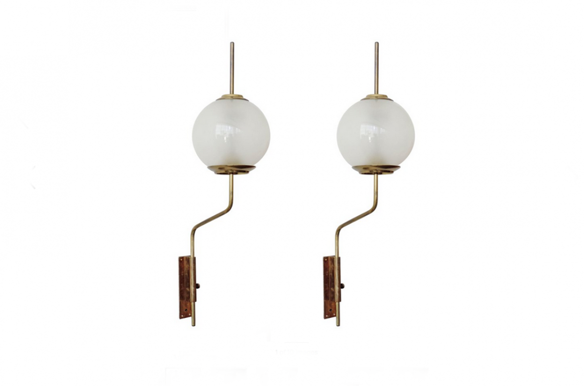Luigi Caccia Dominioni, pair of 6 LP11 wall lights