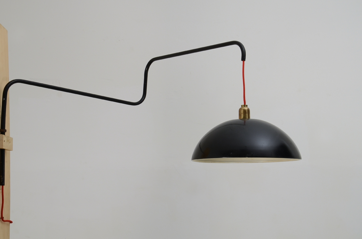 Martinelli Luce, Italian 1960's adjustable wall lamp.