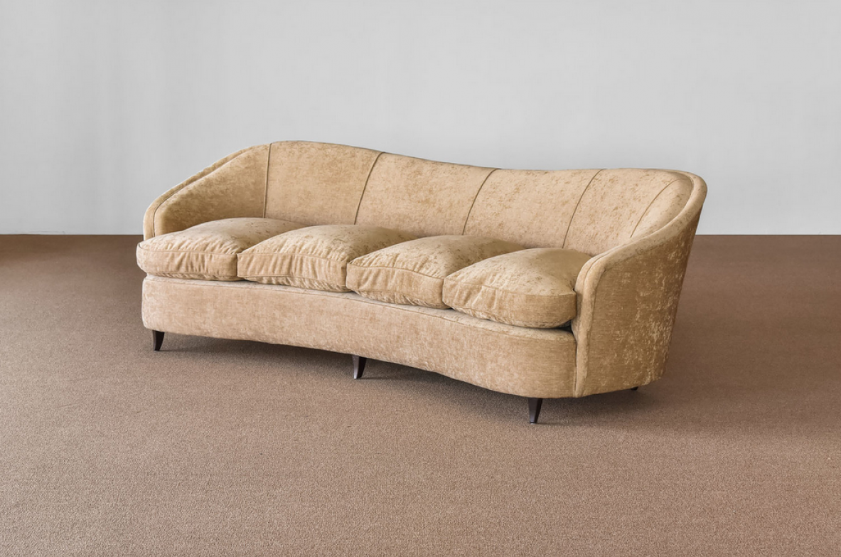 Gio Ponti, very rare and elegant pair of sofas, prod. Casa & Giardino 1935.