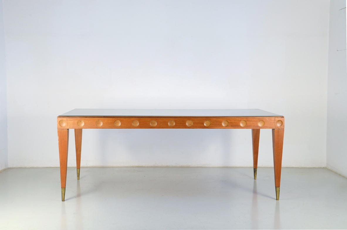 Paolo Buffa, 1950's  table in cherry wood