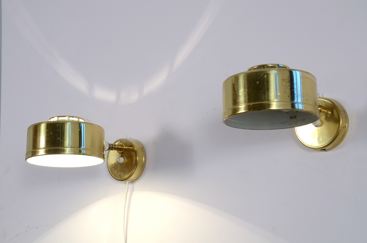 Pair of Swedesh 1960's sconces in brass