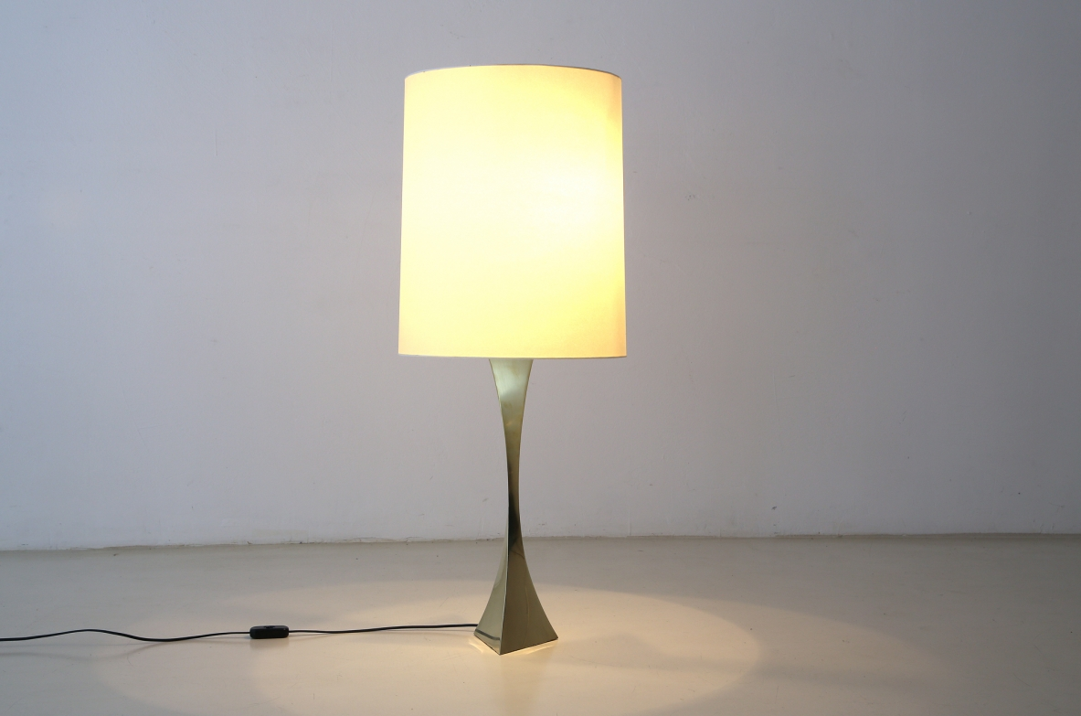 """Piramide"" table lamp by A.Montagna Grillo and A.Tonello. Produced for High Society, 1972."