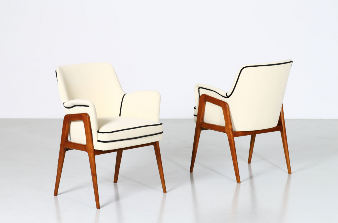 Gio Ponti, pair of armchairs