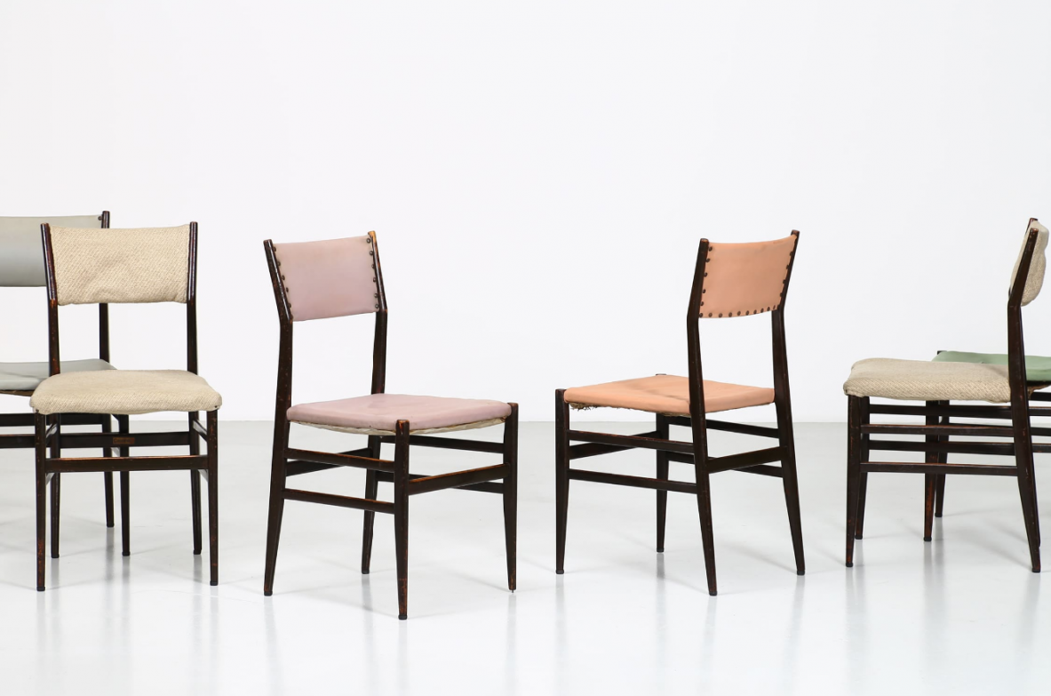 Gio Ponti, nice set of six Leggera chairs in perfect original conditions