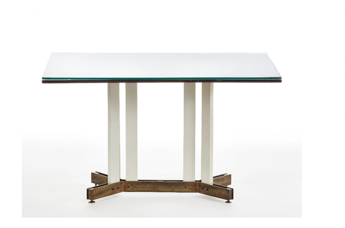 Center table / writing desk in the style of Ignazio Gardella