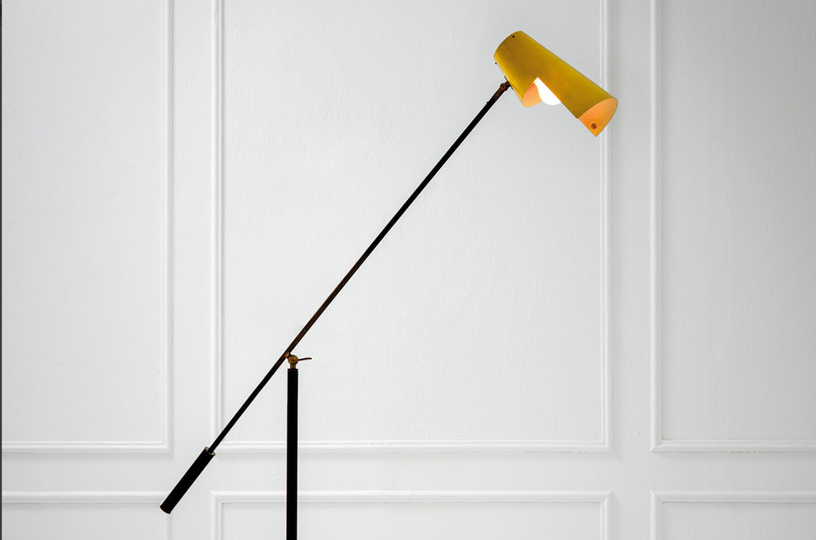 Stilnovo, rare floor lamp. Italy 1950.