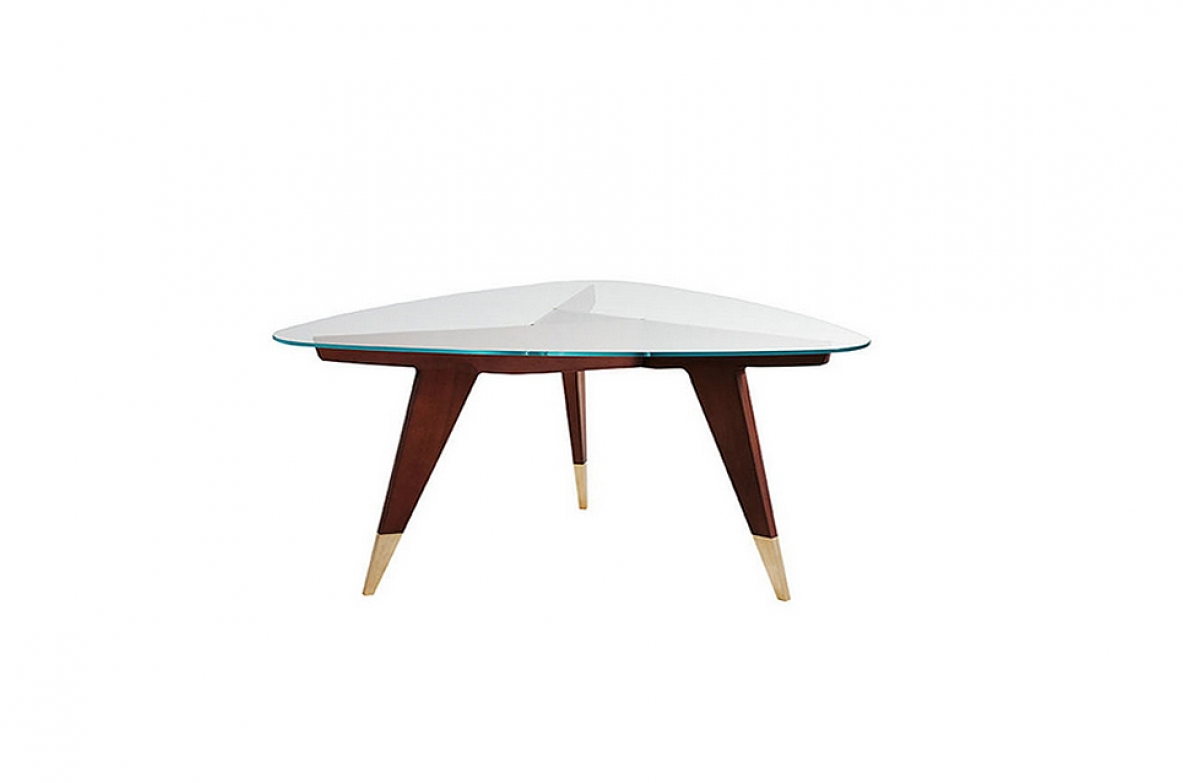 Coffee table designed by Gio Ponti, made of rosewood