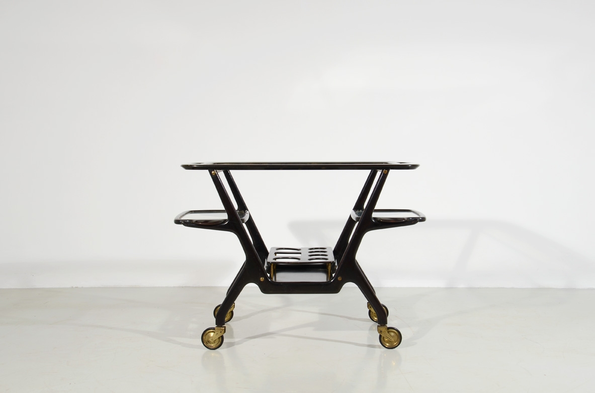 Ico Parisi, lacquered wooden trolley